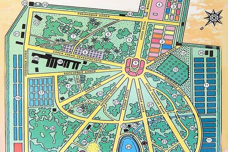 План ботанического сада в